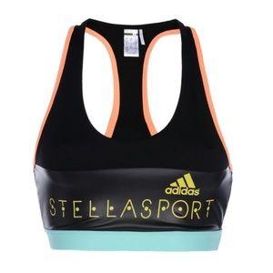 adidas by Stella McCartney Sports Bra Black logo